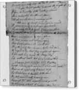 Phillis Wheatley (1753?-1784) Acrylic Print