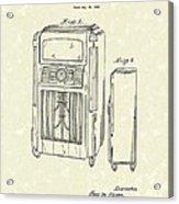 Phonograph Cabinet 1938 Patent Art Acrylic Print