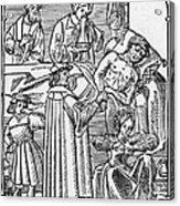 Physician & Plague Victim Acrylic Print