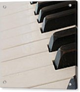 Piano Keyboard At Angle Acrylic Print