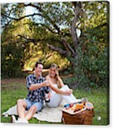 Picnic In The Woods Acrylic Print