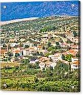 Picturesque Mediterranean Island Village Of Kolan Acrylic Print