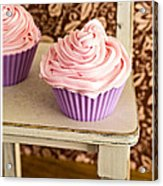 Pink Cupcakes Acrylic Print by Edward Fielding