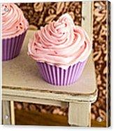 Pink Cupcakes Acrylic Print