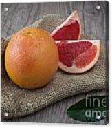 Pink Grapefruit Acrylic Print