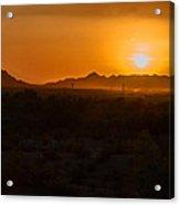 Piestewa Peak Sunset Acrylic Print