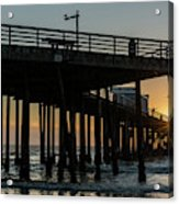 Pismo Beach Pier At Sunset, San Luis Acrylic Print