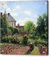 Pissarro's The Artist's Garden At Eragny Acrylic Print by Cora Wandel