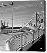 Pittsburgh - Roberto Clemente Bridge Acrylic Print by Frank Romeo