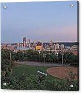 Pittsburgh Skyline At Dusk Acrylic Print