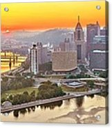 Pittsburgh Sunrise Panorama Acrylic Print