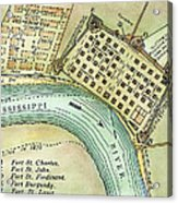 Plan Of New Orleans, 1798 Acrylic Print