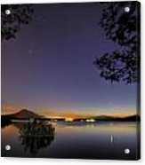 Planetary Conjunction Reflections At The Lake Mercury And Venus Acrylic Print