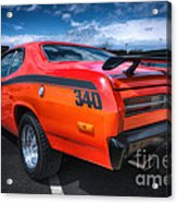 Plymouth Duster 340 Acrylic Print