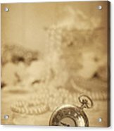 Pocket Watch Acrylic Print by Amanda Elwell