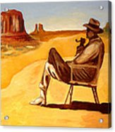 Poet In The Desert Acrylic Print by Joseph Malham