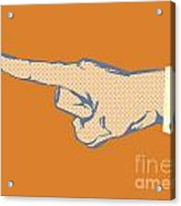 Pointing Finger Vector Acrylic Print
