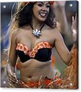 Polynesian Dancers Acrylic Print