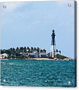 Pompano And The Hillsboro Inlet Lighthouse Acrylic Print