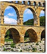 Pont Du Gard In Southern France Acrylic Print