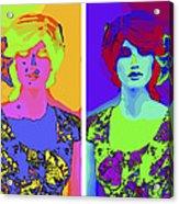 Pop Art Girl Acrylic Print