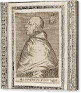 Pope Alexander Vi (roderigo Borgia) Acrylic Print