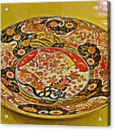 Porcelain Dish In Topkapi Palace In Istanbul-turkey  Acrylic Print