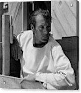 Portrait Of Gary Cooper Acrylic Print
