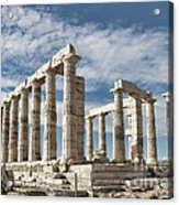 Poseidon's Temple Acrylic Print by Gabriela Insuratelu