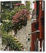 Positano Street Scene Acrylic Print
