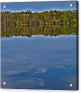 Fall Colors And Cumulous Clouds Acrylic Print