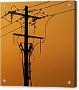 Power Line Sunset Acrylic Print