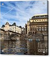 Prague From Vltava Acrylic Print