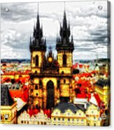 Prague Church Of Our Lady Before Tyn Acrylic Print