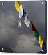 Prayer Flags Stormy Day Acrylic Print