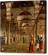 Prayer In The Mosque Acrylic Print