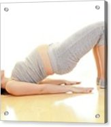 Pregnant Woman Doing Yoga Acrylic Print