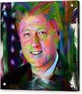 President William J. Clinton Acrylic Print