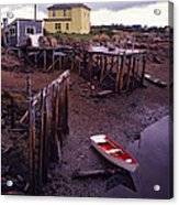 Private Jetty Northern Maine Acrylic Print