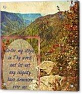 Psalm 119 133 Acrylic Print