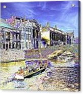 Psychedelic Bruges Canal Scene Acrylic Print