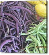 Purple And Green Beans Acrylic Print