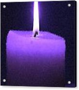 Purple Lit Candle Acrylic Print