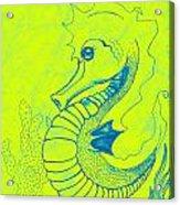 Q-t The Purdiest Seahorse Acrylic Print