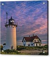 Race Point Lighthouse Sunset Acrylic Print