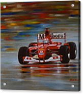 Racing Car Acrylic Print