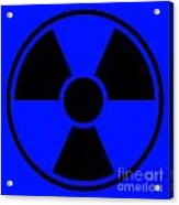 Radiation Warning Sign Acrylic Print