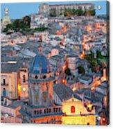 Ragusa At Dusk, Sicily, Italy Acrylic Print