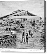Railroad Accident, 1887 Acrylic Print
