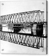 Railroad Bridge Red River Acrylic Print